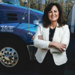 KEEP ON TRUCKING: Elizabeth Robson started on the lowest rung of her family's business, JF Moran, decades ago and worked her way up – including earning a law degree – until she was named president in 2015. She also teaches at Johnson & Wales University. 