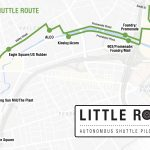 THE LITTLE ROADY autonomous vehicle shuttle service will operate seven days a week from 6:30 a.m. to 6:30 pm. with 12 stops between Olneyville Square and Providence Station. / COURTESY R.I. DEPARTMENT OF TRANSPORTATION