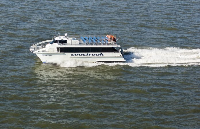THE PROVIDENCE-NEWPORT ferry will resume on May 24. RIDOT said the service will include summer weekend Bristol service. / COURTESY R.I. COMMERCE CORP.