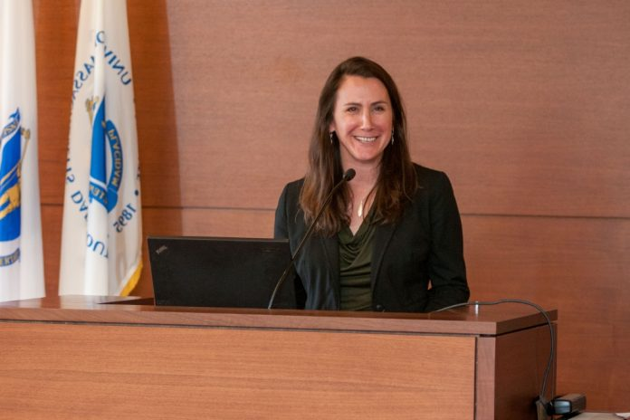 SHANNON JENKINS, a University of Massachusetts Dartmouth professor, was recently given a 2019 Manning Prize for her dedication to her students and the university. / COURTESY UNIVERSITY Of MASSACHUSETTS
