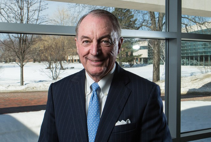BRYANT UNIVERSITY'S Board of Trustees has distributed a memo to faculty and staff explaining why President Ronald K. Machtley was paid $6.2 million in 2017. PBN FILE PHOTO/RUPERT WHITELEY