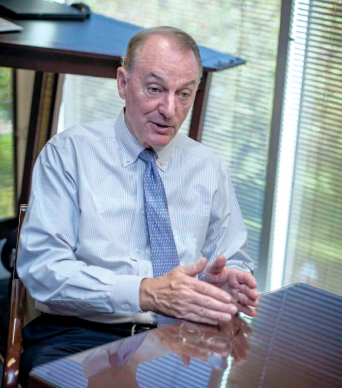 RON MACHTLEY, longtime Bryant University president, says he's stepping down in 2020. / PBN FILE PHOTO/MICHAEL SALERNO