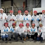 RAVE REVIEWS: Bulk Packout team members at Blount Fine Foods give thumbs up about their workplace. / COURTESY BLOUNT FINE FOODS