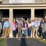 THANKFUL TEAM: The staff at Davitt gathers for the company's Thanksgiving celebration in November 2018 at the office in South Kingstown. 