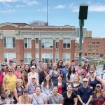 OUT TO THE BALLGAME: Healthcentric staff members gather for a barbeque and a Red Sox game at Fenway Park in 2018.