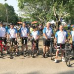 THE WHEEL DEAL: Members of the Starkweather & Shepley staff participate in the 2018 Bike MS: Ride the Rhode fundraiser in South Kingstown.