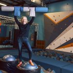 ONE BIG TOY: After operating her own toy store for seven years, Stella Downie doesn't see much difference as the owner of several Sky Zone trampoline park franchises in Rhode Island and Massachusetts that also promote fun and play.