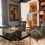 RENOVATED MANOR: Will Bradfield is the co-general manager at the 16-room Cliffside Inn in Newport that underwent a renovation earlier this year. The painting at left is by Beatrice Turner, who summered at the manor from 1907-1948. / PBN PHOTO/DAVE HANSEN