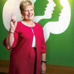 Pam Hyland has been the CEO of the Girl Scouts of Southeastern New England since late 2015 and before that headed a Girl Scout organization in upstate New York and rural Pennsylvania. She lives the Girl Scout mission, promise and law every day. / PBN PHOTO/DAVE HANSEN