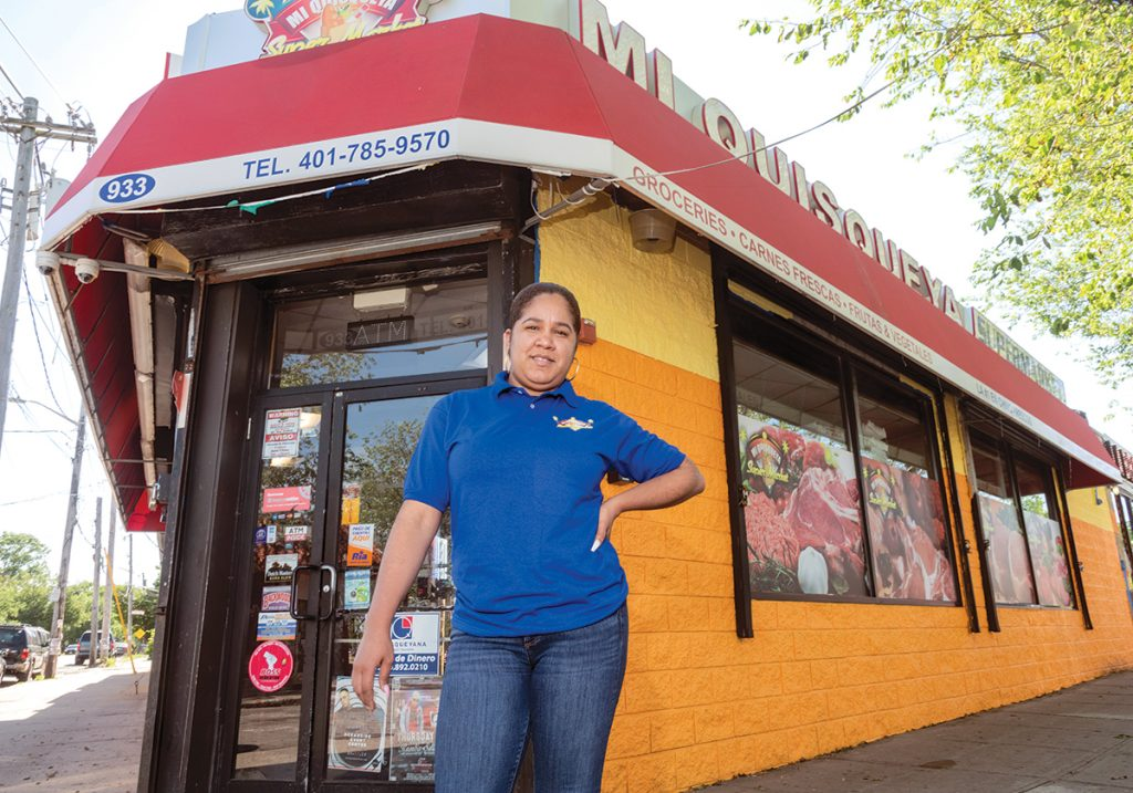 STORE MANAGER: Luisa Goris works as a manager at the Mi Quisqueya Super Market at 933 Broad St. in Providence. She rents space in a house a few blocks away and said she sometimes threatens to withhold her rent if the landlord, who lives in Cranston, doesn't maintain the property or fix problems.  / PBN PHOTO/MICHAEL SALERNO