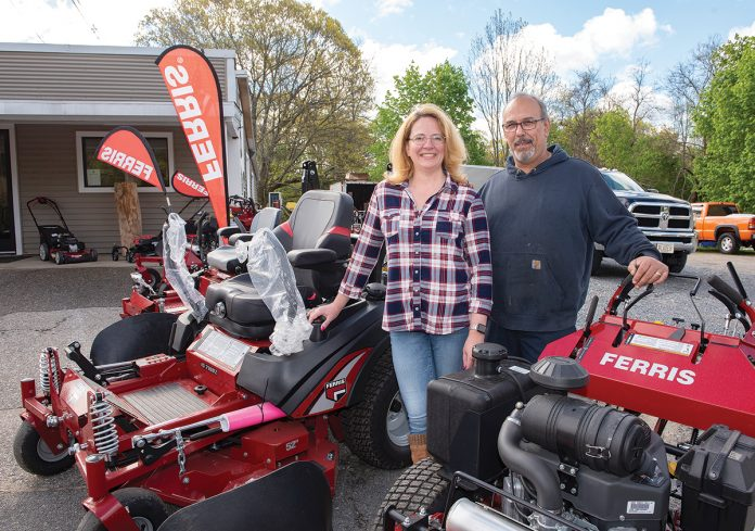 BRANCHING OUT: Barbra and Michael Perry, owners of Blades Small Engine Repair in Taunton, used to run their mobile small-engine-repair business from home but this year opened a shop and showroom in the city.