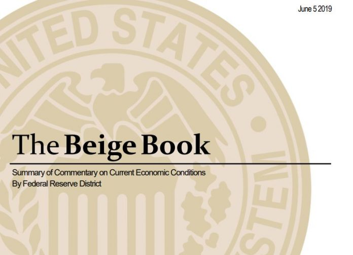 THE FED'S Beige Book for economic activity from April through mid-May said activity in New England continued to expand at a moderate pace, but noted that local manufacturers had cited tariffs and China as having impacts on their businesses. / COURTESY FEDERAL RESERVE