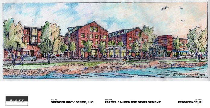 THE SPENCER PROVIDENCE LLC proposal, first introduced a year ago, has been rejected for Parcel 2 and 5 by the I-195 Redevelopment District Commission. / COURTESY I-195 REDEVELOPMENT DISTRICT COMMISSION