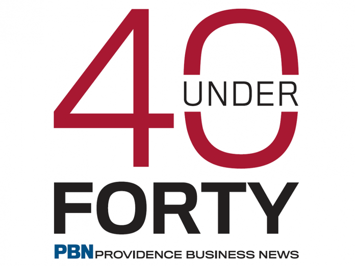 YOUNG PROFESSIONALS have been selected by Providence Business News for 40 under Forty from about 150 applicants, based on career success and community involvement.