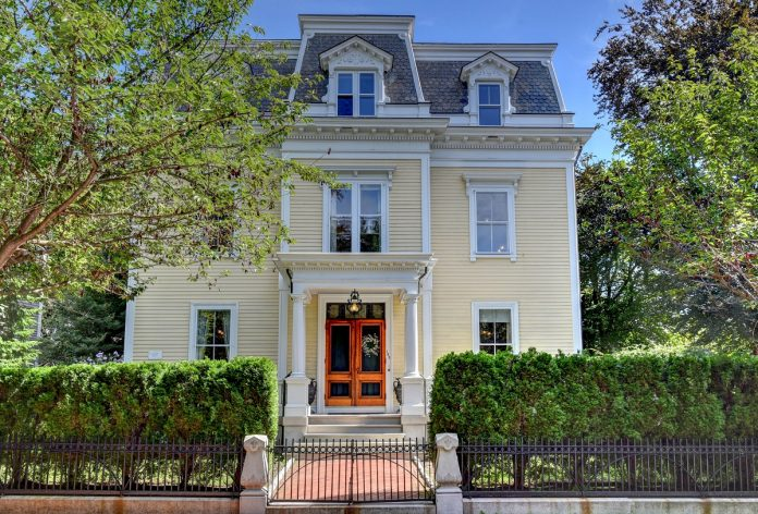 THE 1878 WILLIAM F. SAYLES HOUSE at 32 Lloyd Ave. in Providence has sold for $1.5 million. / COURTESY RESIDENTIAL PROPERTIES