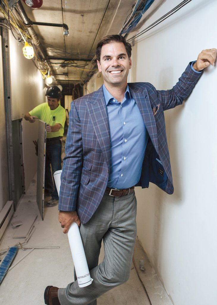 As the fourth generation of a family-owned contracting firm, Brian Casey knows how much a strong company culture can mean to an enterprise. Since taking over in 2015, Casey has doubled revenue and grown the employee count by one-third, something he credits in large part to his team. / PBN PHOTO/RUPERT WHITELEY