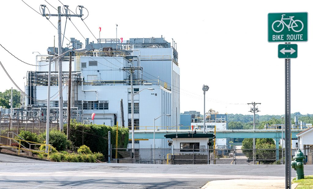 COVENTRY COMPLEX: Pictured above is the Rhodes Technologies plant complex in Coventry. The maker of generic opioids is a subsidiary of Purdue Pharma, maker of popular prescription painkiller OxyContin. / PBN PHOTO/MICHAEL SALERNO