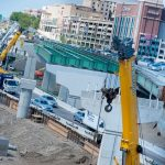 RHODE ISLAND will receive $60.3 million in federal INFRA grants for the reconstruction of the viaduct that carries Interstate 95 north through downtown Providence. Above, construction on the Providence Viaduct carrying I-95 south. / PBN FILE PHOTO/MICHAEL SALERNO