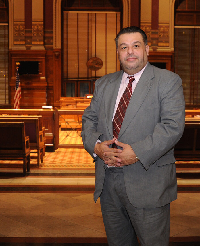 FORMER PROVIDENCE CITY COUNCIL President Luis A. Aponte pleaded no contest to a charge of embezzlement Monday. As part of his plea, Aponte was required to resign from his position on the Providence City Council. Aponte resigned as president in 2017. / PBN FILE PHOTO