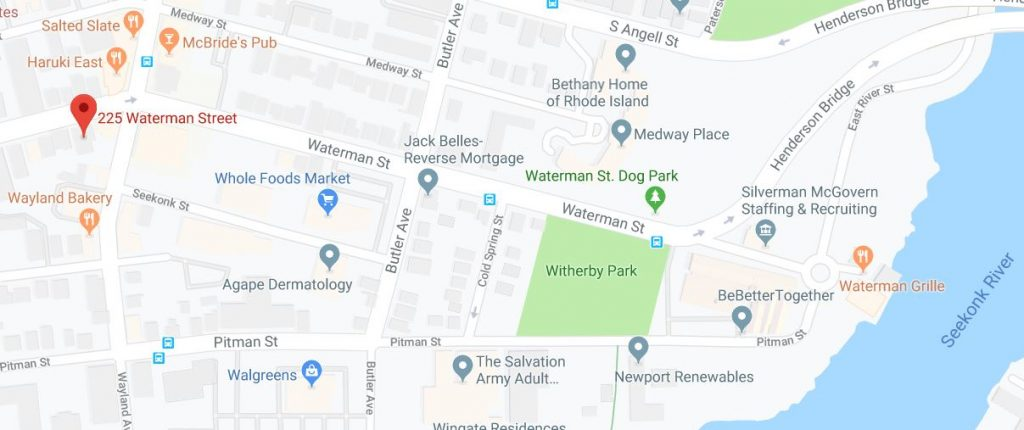 225 Waterman St. is located in the Wayland neighborhood of Providence. / COURTESY GOOGLE INC.