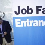 THE UNEMPLOYMENT RATE in Rhode Island declined 0.4 percentage points year over year to 3.6% in June, the second highest rate in New England. / BLOOMBERG NEWS FILE PHOTO/LUKE SHARRETT