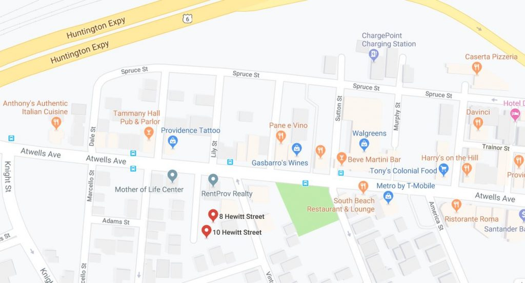 8 Hewitt St. and 10 Hewitt St. are located in the Federal Hill neighborhood of Providence. / COURTESY GOOGLE INC.