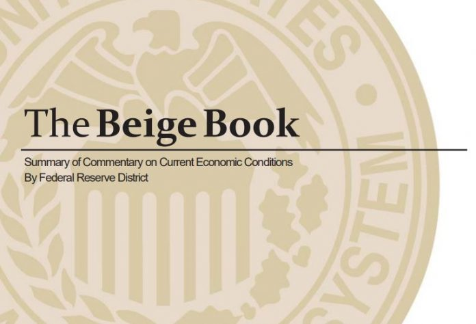 THE FEDERAL RESERVE said that economic activity in New England expanded at a moderate pace at the end of the second quarter of 2019.
