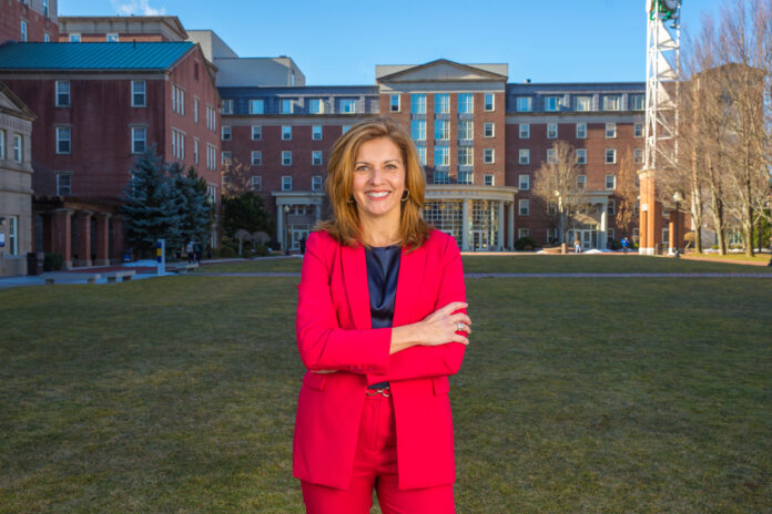 JOHNSON & WALES UNIVERSITY has been unranked in the 2019 U.S. News & World Report's Best Colleges rankings. Above, Marie Bernardo-Sousa, president of the JWU Providence Campus. / COURTESY JOHNSON & WALES UNIVERSITY