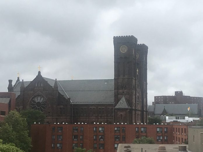 THE R.I. ATTORNEY GENERAL'S Office and the R.I. State Police will have access to records from the Diocese of Providence related to child sexual abuse allegations dating back to the 1950s. The landmark Cathedral of Saints Peter and Paul is the symbol of the diocese. / PBN FILE PHOTO/CHRIS BERGENHEIM