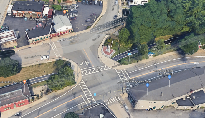EAST PROVIDENCE has received $100,000 for improvements to Riverside Square.. Above, an aerial photo of the square./ COURTESY CITY OF EAST PROVIDENCE