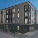 THIS RENDERING shows the proposed apartment building for 466-468 West Fountain St., in Federal Hill. / COURTESY PROVIDENCE PLANNING DEPARTMENT.
