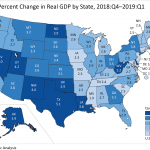 RHODE ISLAND GDP increased at an annualized 2.2% rate in the first quarter of 2019. / COURTESY BUREAU OF ECONOMIC ANALYSIS