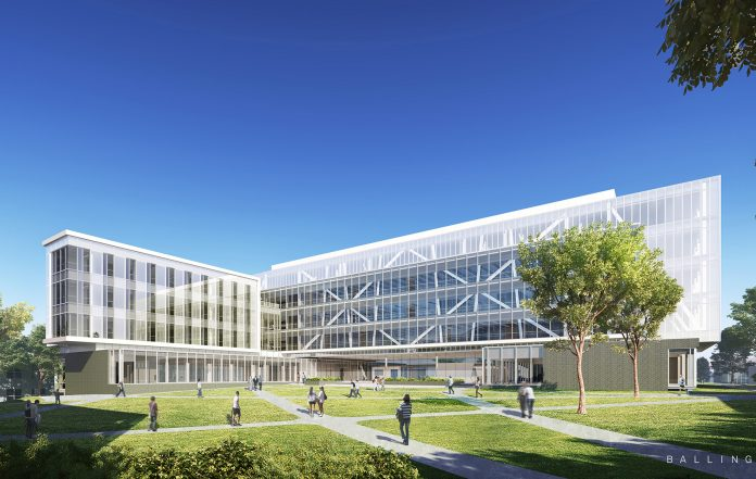 A RENDERING OF what the University of Rhode Island's College of Engineering complex will look like when opened later this year. / COURTESY BALLINGER OF PHILADELPHIA