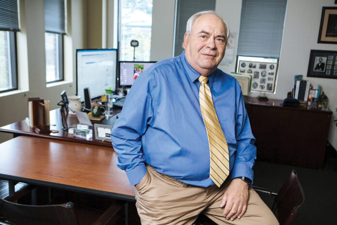 CHAMBER KEEPER: John C. Gregory has built the Northern Rhode Island Chamber of Commerce into a success in the 27 years since he became CEO and president. Now he's near retirement. / PBN PHOTO/RUPERT WHITELEY