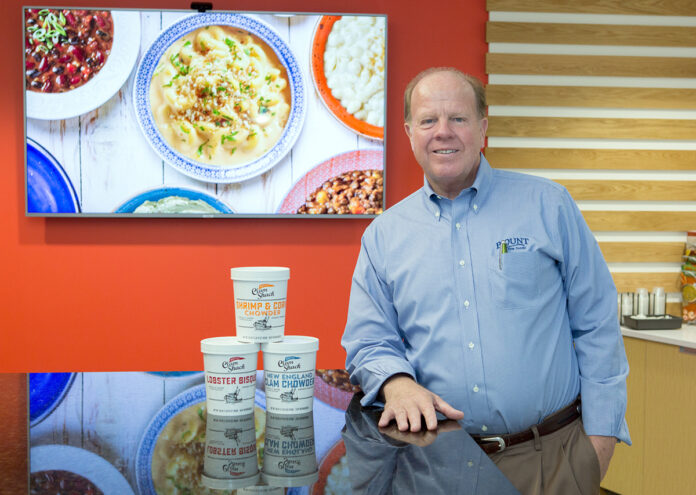 FOOD AND FOUNDATION: Not only does Blount Fine Foods Executive Vice President Bob Sewall travel the country promoting Blount products, he started his own charity to help the needy. 
