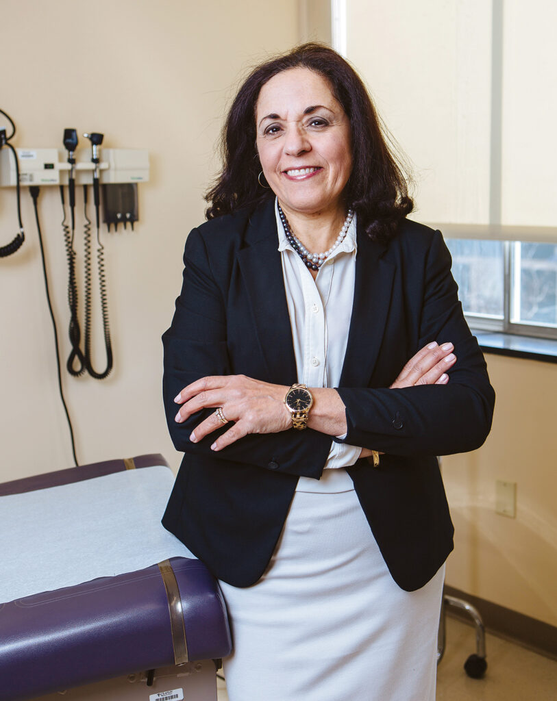 THE RHODE ISLAND Free Clinic has received a $80,000 grant from Blue Cross & Blue Shield of Rhode Island. Above, RIFC CEO Marie Ghazal. / PBN PHOTO/RUPERT WHITELEY
