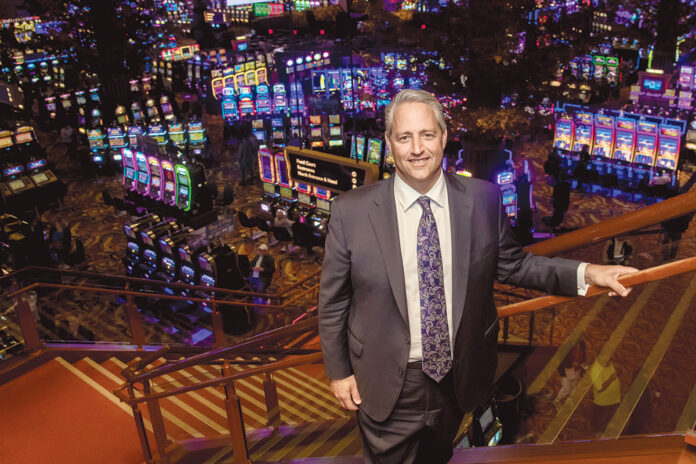 TWIN RIVER plan to lay off 100 casino workers due to the impact of Encore Boston Harbor casino on table games in Lincoln. Above, Marc Crisafulli, the newly named president of Rhode Island operations for Twin River Worldwide Holdings. PBN FILE PHOTO/MICHAEL SALERNO