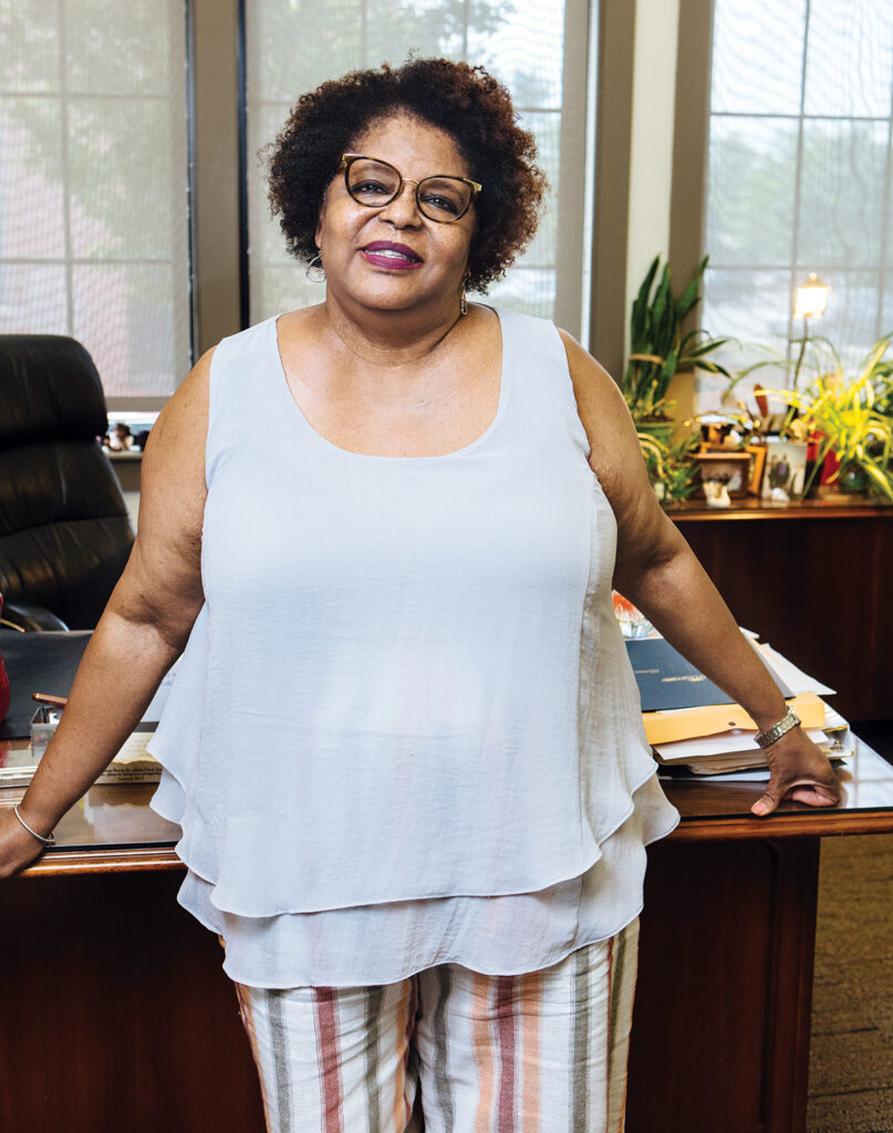 Dedicated to bringing safe, affordable housing to her neighborhood, Sharon Conard-Wells has raised more than $120 million for the West Elmwood Housing Development Corp., for which she has been executive director since 1991. / PBN PHOTO/RUPERT WHITELEY