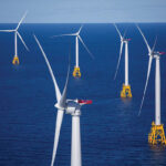 PRESIDENT DONALD TRUMP said he is not willing to risk U.S. wealth derived from energy sales on wind energy. Above, the Block Island wind farm. / BLOOMBERG NEWS FILE PHOTO/ERIC THAYER
