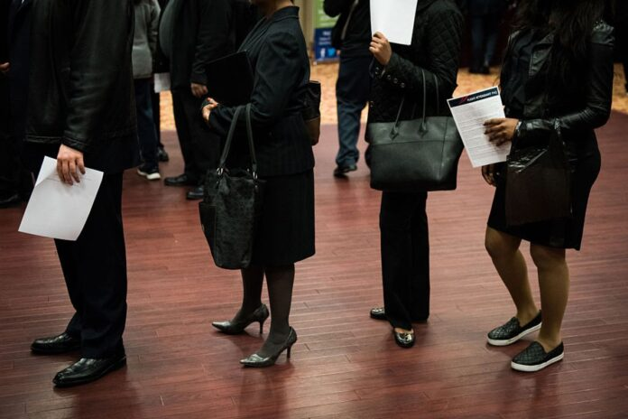 US PAYROLLS for the year through March were revised down by 501,000 during the period, or almost 42,000 a month, according to the Labor Department. / BLOOMBERG NEWS FILE PHOTO/