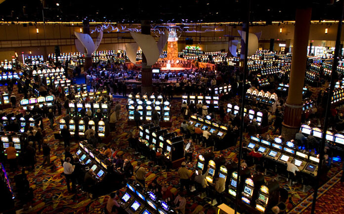 A GOOD BET? TWIN RIVER WORLDWIDE HOLDINGS is challenging the contract that Gov. Gina M. Raimondo and the General Assembly reached with International Game Technology that ties the company and 1,100 jobs to Rhode Island until 2043 while providing the technology that is used by all channels of gaming overseen by the R.I. Lottery. / PBN FILE PHOTO/STEPHANIE ALVAREZ EWENS