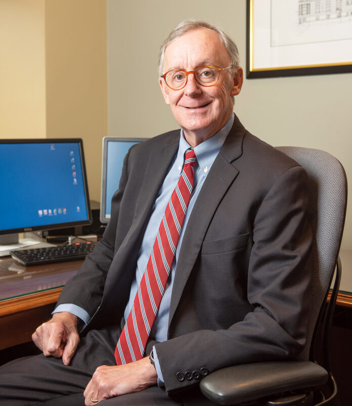 TOP OF HIS GAME: Dr. John Murphy is not only in charge of physician affairs at Lifespan Corp., he's also a professor at the Warren Alpert Medical School of Brown University. / PBN PHOTO/DAVE HANSEN