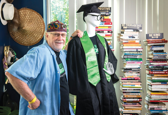 A CLASS OF HIS OWN: Dennis Littky has gained the reputation of being an innovative educator by developing projects such as College Unbound, a nontraditional, degree-granting school. 