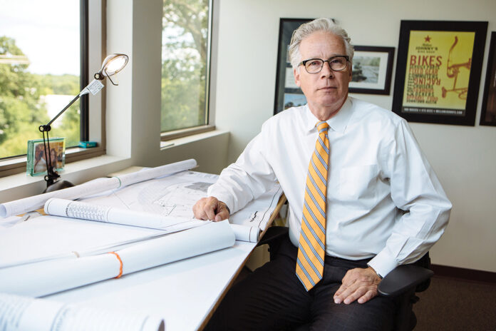 GRAND PLAN: Scott A. Gibbs' career in economic development has spanned nearly four decades. He leans on the experience as president of the self-funded, nonprofit Economic Development Foundation of Rhode Island.