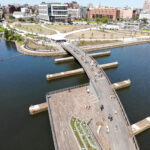 THE PROVIDENCE RIVER Pedestrian Bridge officially opened Friday. / PBN PHOTO/ARTISTIC IMAGES