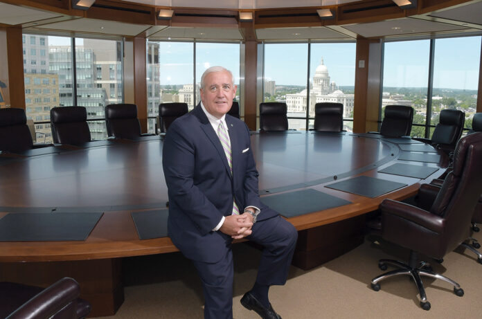 AT THE TOP: Keith Kelly oversees the financial aspects of Citizens Bank's Rhode Island operation as state president. He's highly involved in the philanthropy side of the business, too. 
