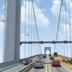 PHASE II of the Newport Pell Bridge road deck replacement project is scheduled to begin Monday. Above, a rendering of the traffic pattern shifts that will accompany the phase. / COURTESY R.I. TURNPIKE AND BRIDGE AUTHORITY