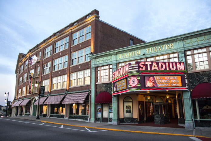 AN ANALYSIS BY personal finance website GOBankingRates found Woonsocket, home to the Stadium Theatre, is a better alternative to Providence for homebuyers who want to see the value of their homes improve more quickly. / COURTESY STADIUM THEATRE PERFORMING ARTS CENTRE/JORDAN W. HARRIS
