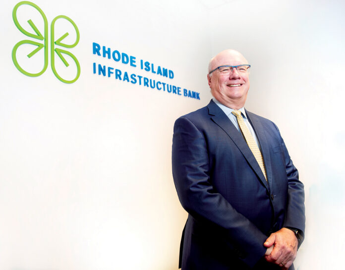 COMMUNITY-MINDED: Jeffrey Diehl had extensive experience in global investment banking before becoming the CEO and executive director at the Rhode Island Infrastructure Bank. / PBN PHOTO/DAVE HANSEN