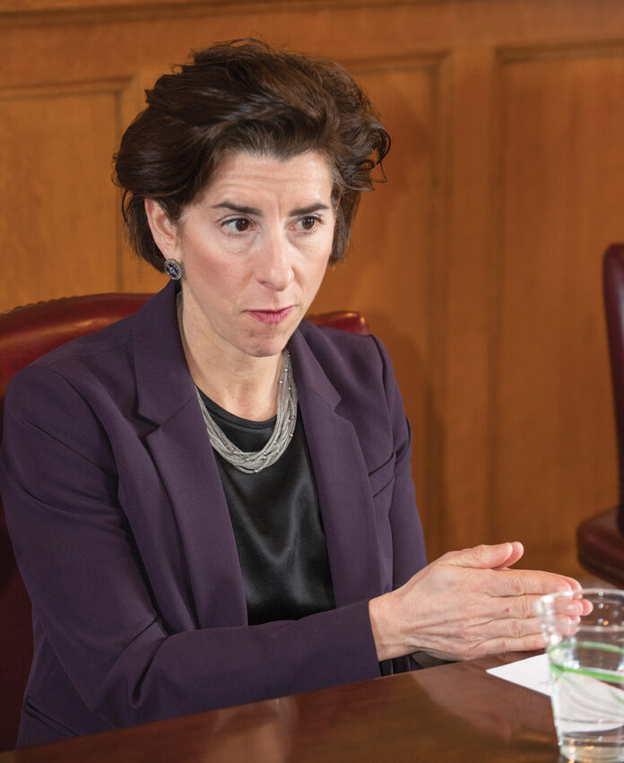 THE R.I. ETHICS COMMISSION has voted to authorize an investigation into allegations that Gov. Gina M. Raimondo's actions related to the IGT contract extension would benefit Donald Sweitzer, her alleged business associate./ PBN FILE PHOTO/ DAVE HANSEN